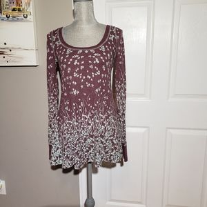 FREE PEOPLE thermal, floral, waffle knit
